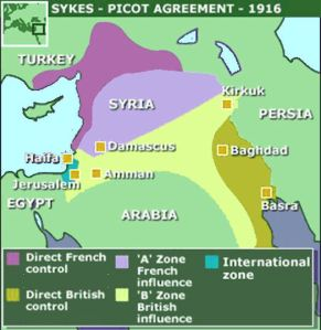Borders Drawn By Sykes Picot in 1916 Were Far From Perfect